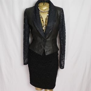 Vintage 1980's Chia Leather and Lace Jacket